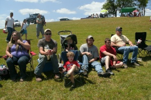 my family and friends at the Father's Day Mud Bog Race