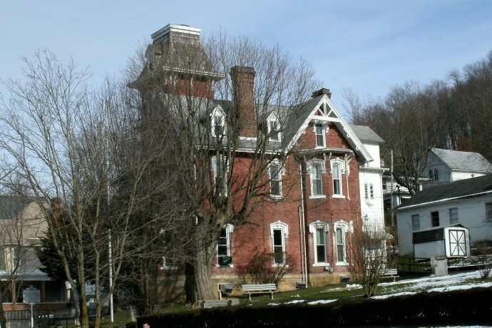a 4 story mansion donated to the city of weston  for use as a llibrary