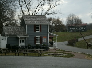 Gate house ... with barn and toll gate