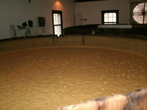 Fermentation tank with corn wheat and barley