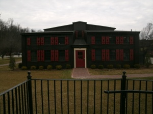 The Printing Houe of Maker's Mark and a sampleof the look of all the produceing buildings