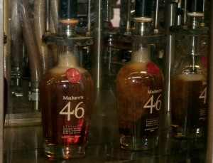 "bottles of ""46"" getting filled"