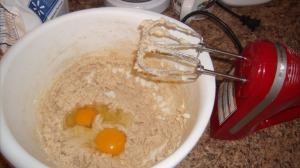 creamed sugar butter and adding eggs