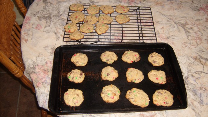 cooling Easter Chunk Cookies