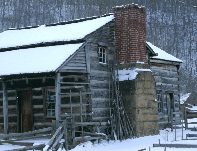Mary Conrad cabin Jacksons Mill. Jane Lew West Virigina