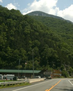 Front of Smoke hole Caven tours and mountains