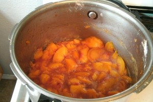cooking peaches
