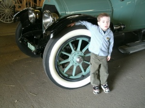 Christopher with old car