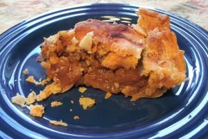Freah apple pie for dinner