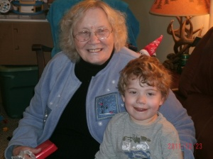 Christopher with his Grandma 12-11-12