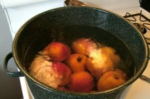 scalding peachs