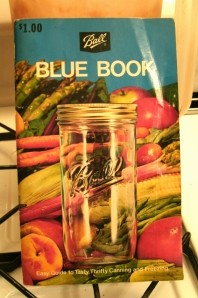 Ball blue book of canning copy right 1970
