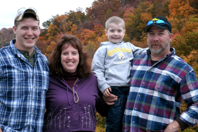 My family at Bridge Day 2012. Tom, Cody, Christopher and Jolynn Powers oct 2012
