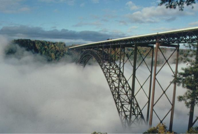 New River Gourge fog photo from thier wed site