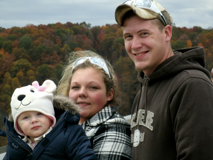 young family at Bridge day 2012 Cody, Jamie and Paige Powers