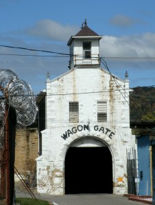 frist structure at Moundsvill state penitentiary.. used as housing and sight of hangings