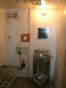 Cell in high security area of Moundsville state Penitentiary, site of worst murder in thier history