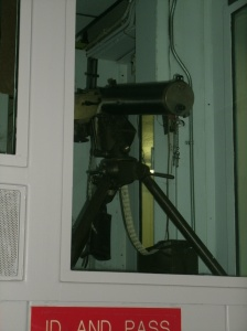 Gaurds gun used in the visitor are of prison