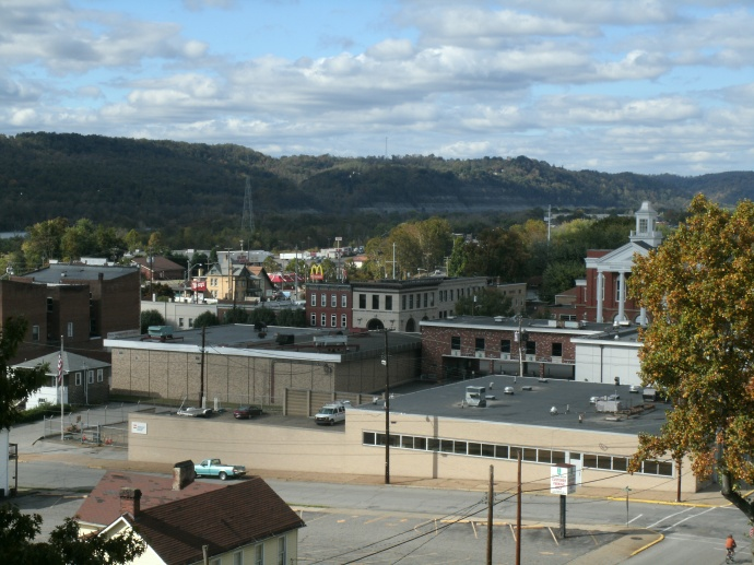 community of Moundsville, West Virginia taken across the street from the prison.
