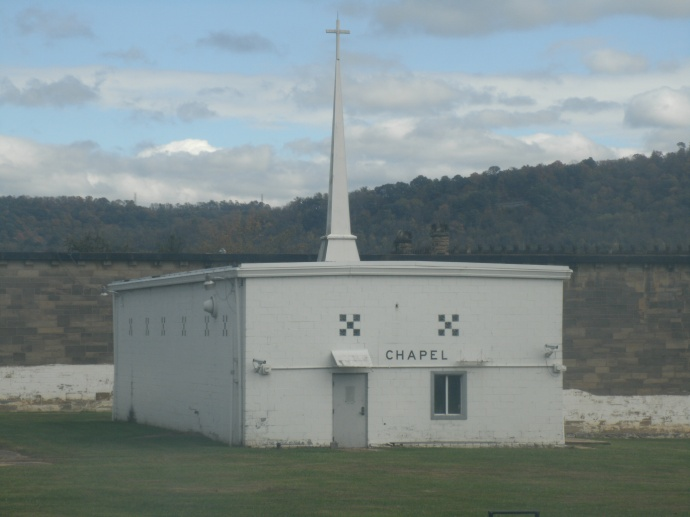 """The Capel inside the """"yard' at Moundsville state Penitentiary"""