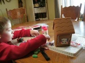 christopher building ginger bread house
