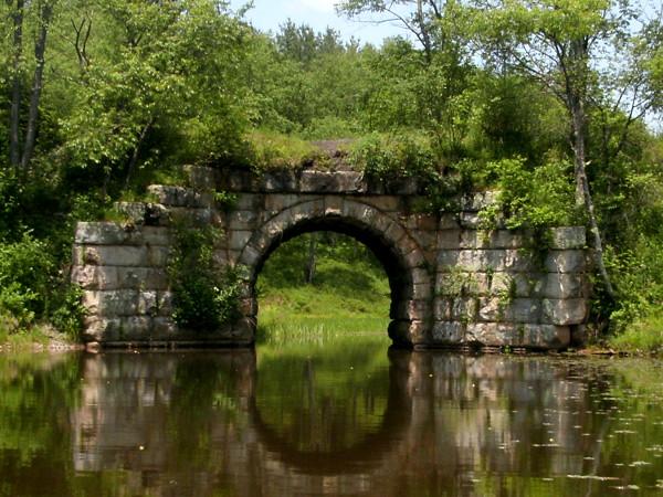 train bridge at Black Water falls state park, Wv