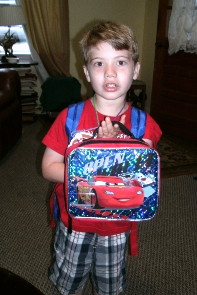 Christopher'd first day at school Sep 2013