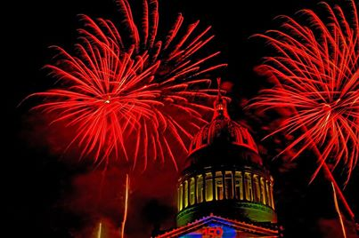 fire works over the West Virginia State Capital 2013