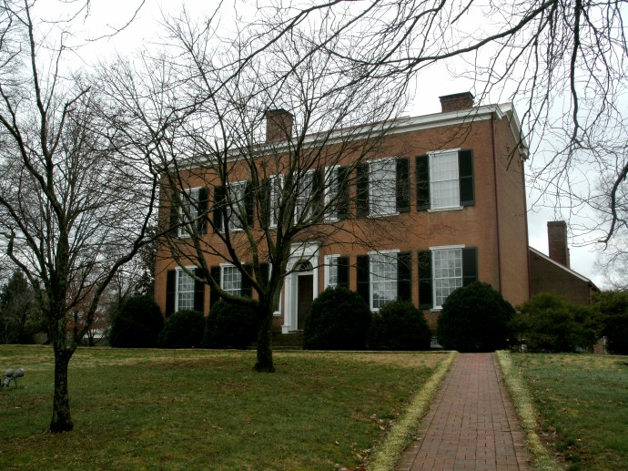 Historic John Rowan house. Old Kentucky State    Park, Bardstown Kentucky