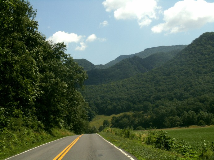 Country Roads take me home Hwy 55 Seneca Rocks, West Virginia