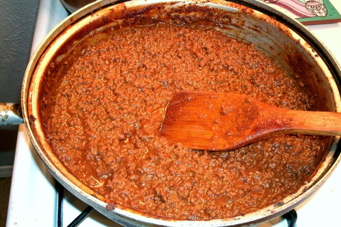 Venison hot dog chili