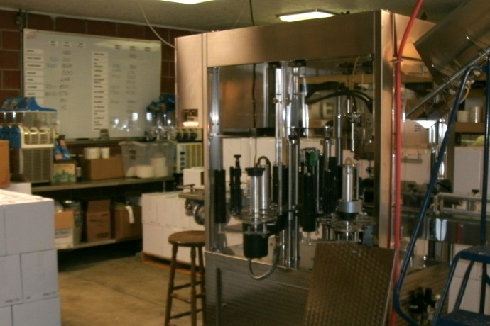 bottling machine at Lambert's vintage wines
