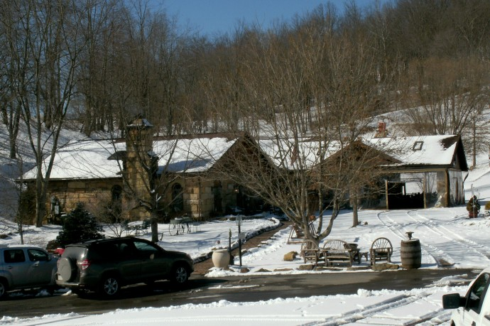 Lambert's stone tasting room,store and porch for events