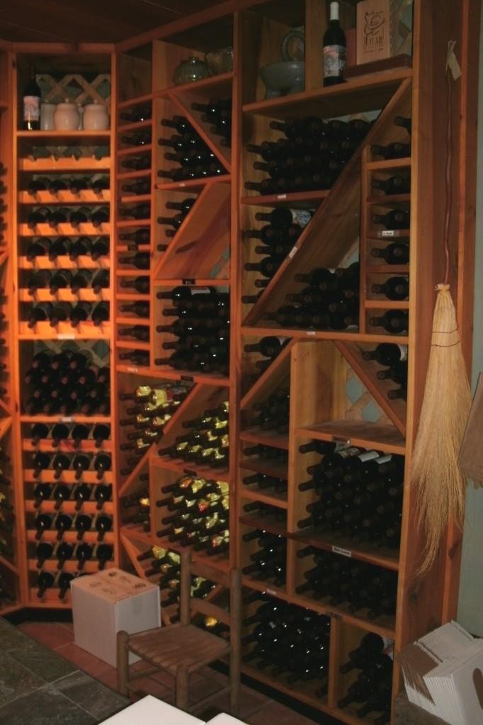 wine cellar at Lambert's vintage wines