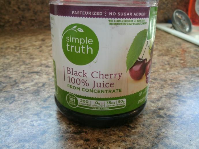 organic black cherry juice