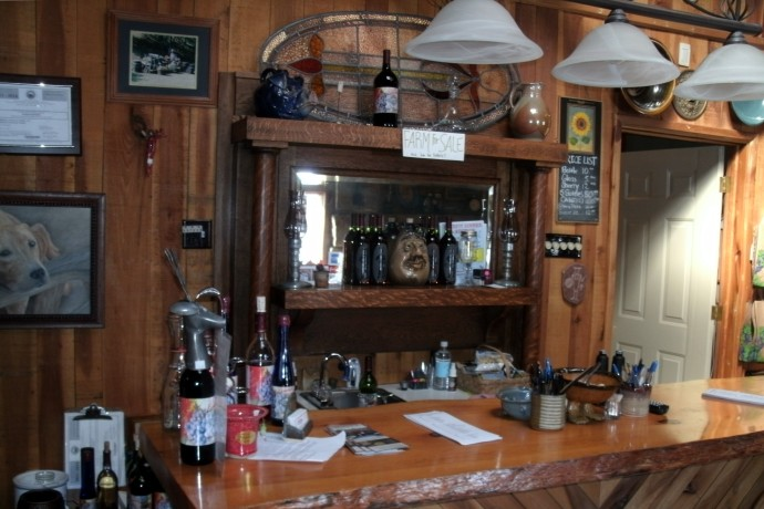 Wine tasting bar at Lambert's Vintage Wines