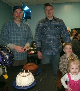 Thomas A Powers, Cody A  Powers, Paige A Powers, Christopher T Powers at tom 50th birthday Party