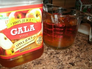 100% apple juice as a nutrient starter for yeast adding more gold color
