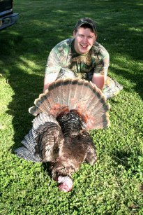 Cody with wild turkey