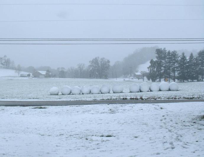 snow bales, west virginia