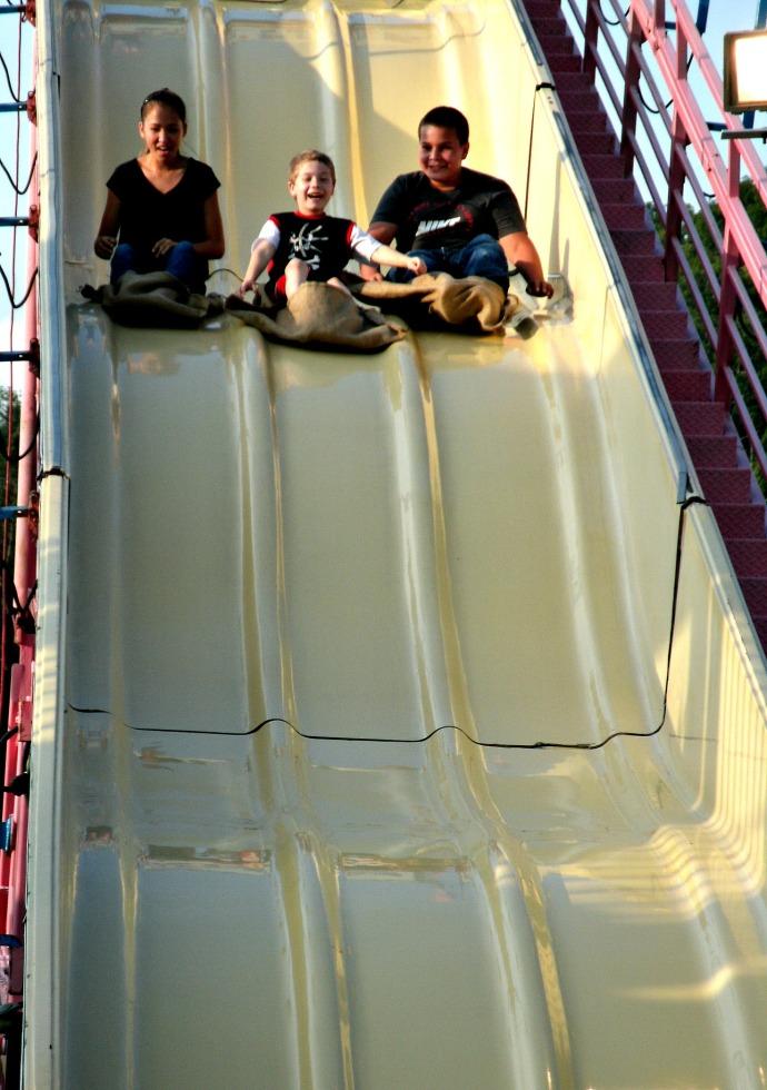 gaint slide ride at the LC fair