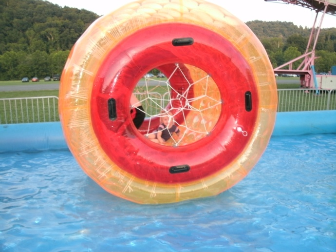 Water tube ride with Christopher