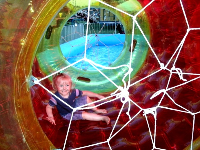 Paige Powers in Water ball ride at the fair 2014