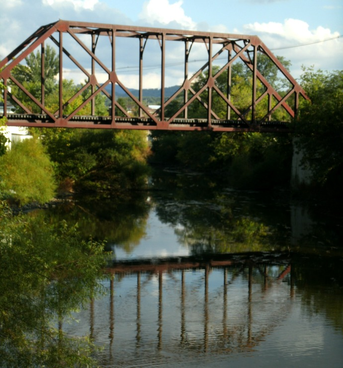 train bridge over the Tygart River, Elkins West Virginia