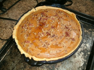 Maple Pecan Sweet Potato Pie.