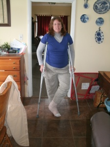 me in my bandages after surgery