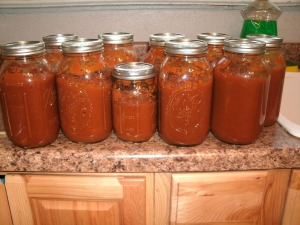 10 jars of home made pumpkin pie filling