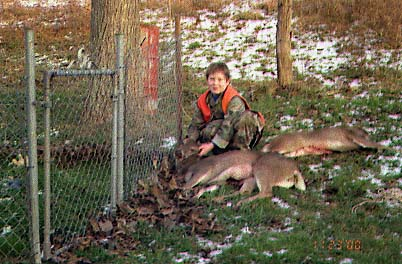 Cody A Powers age 8 first deer.. 1998... 78 years after the above photo of his great grandfathers deer