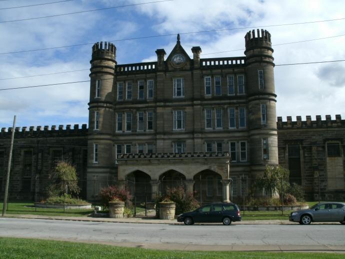 Moundsville State Prison, front entry, Moundsville, West Viriginia