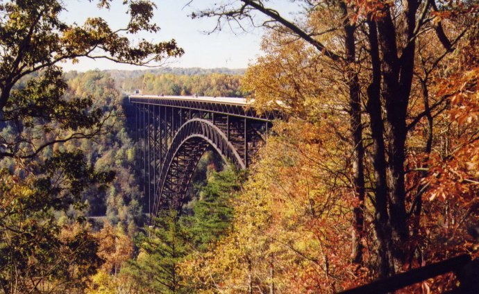 New River Gorge Bridge fall folage 2002